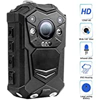 R-Tech HD 1296P Infrared Night Vision Police Body Camera Security IR Cam with 32GB Built-in Memory