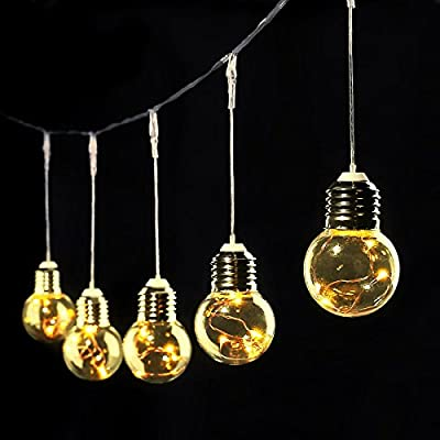 LE G45 LED Globe String Lights UL listed Backyard Patio LED Bulbs 20ft Waterproof Indoor Outdoor Copper Wire Hanging light for Garden Patio Tents Market Cafe Gazebo Porch Letters Party Decor