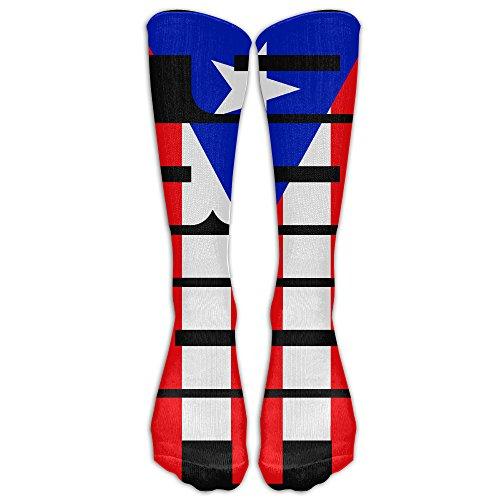 ZqSok Puerto Rico Pride Flag Knee High Socks Men&Women Athletic Long Tube Stockings For - Stores Online Rico Puerto
