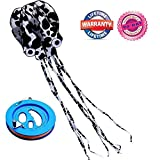 #8: Octopus Kite for Adults Kids Beach Park Portable Foldable Easy Flyer Frameless Soft Kite with Kite Reel Winder Large kite 47 x 216 Inches Perfect Toy