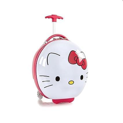 49b3489e65fa Amazon.com  Hello Kitty Hardside Round Shaped Luggage for Kids - 16 ...