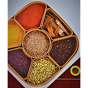 Multicolored Masala Rangoli Box for Your Kitchen