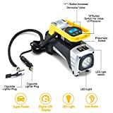 Air Compressor Pump, Yimale 12V 150 PSI Car Air Pump Digital Tire Inflator with Preset Pressure Auto Shut Off Gauge And Emergency Light, Portable Tire Pump for Car, Bikes, Motorcycles, Sport Balls Etc