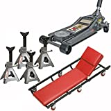 3 Ton Floor Jack Set Combo 6 Ton Combined Jack Stands and Mechanic Creeper