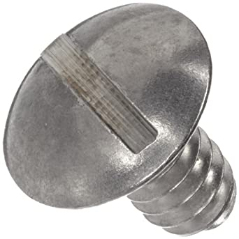 "Thomas 304 Stainless Steel Slotted Truss Head Mounting Screw, #6-32 Thread x 1/4"" Diameter"