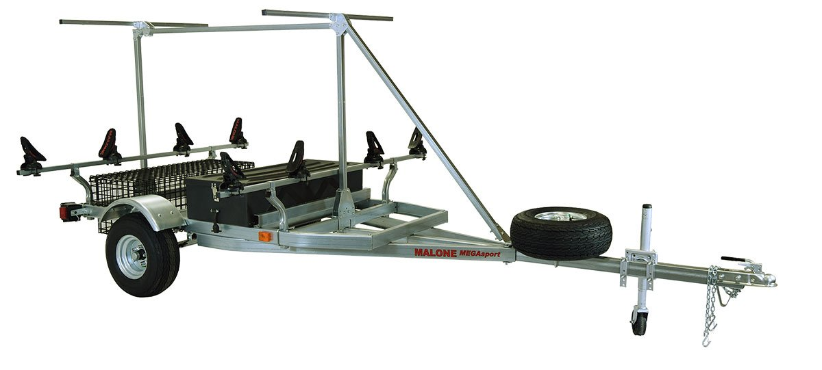 Malone Auto Racks 2 boat trailer package w/storage & 2nd Tier - Saddle Up Pro by Malone