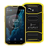 AMA(TM) 5.5'' Kenxinda Proofings W8 4G LTE Smartphone - Unlocked GSM Android 5.1 Octa Core 16GB Dual SIM Dual Standby Bluetooth 4.0 GPS Wifi Android Phone (Yellow)