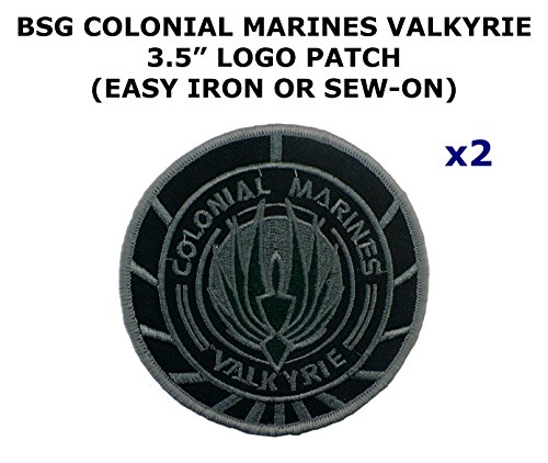 Colonial Assassin Costume (2 PCS Colonial Marines Valkyrie Battlestar Galactica TV Show Theme DIY Iron / Sew-on Decorative Applique Patches)