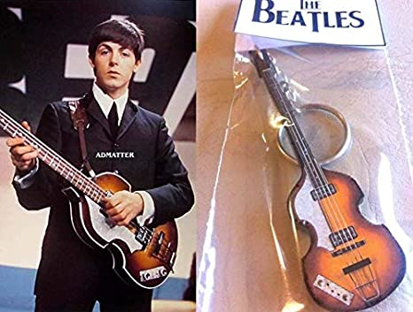 Keychain Guitar Bass Hofner 500/1 Lefty Paul Mccartney The Beatles