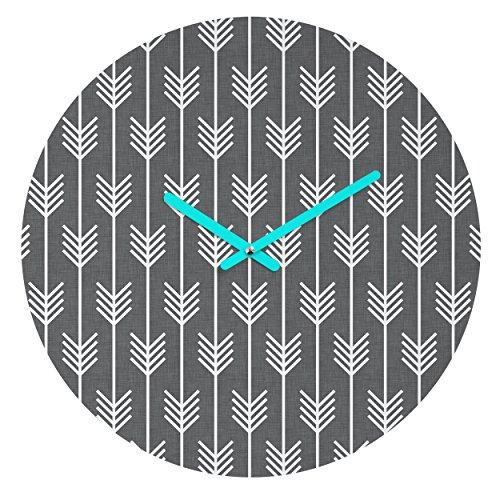 Deny Designs Holli Zollinger Arrows Grey Round Clock (Arrow Clock)