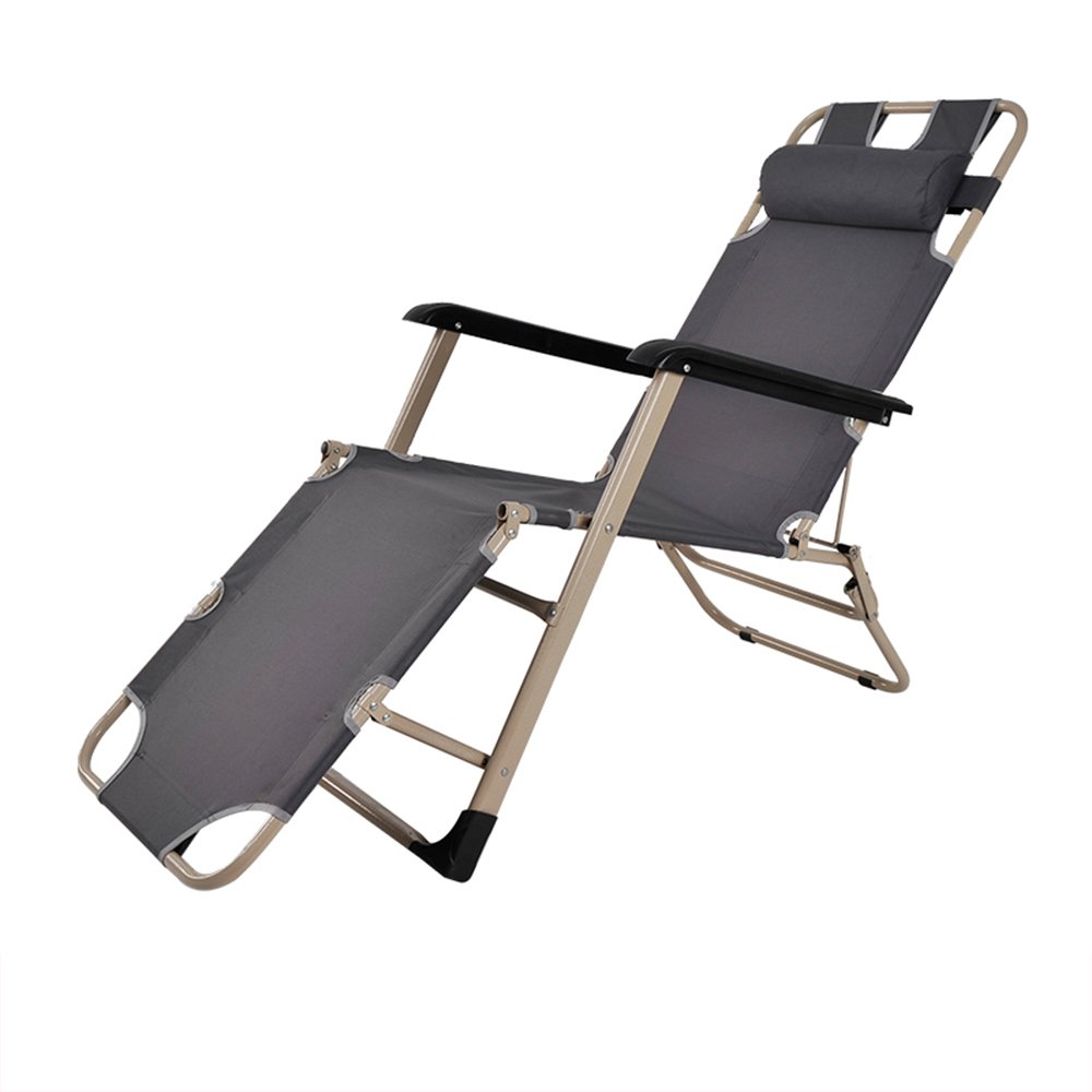 Folding bed / Folding chair / Lunch bed / Office bed / Camp bed / Reinforced beach chair / Reinforced pipe Folding chair / Three color optional chair / Single-tube rocking chair ( Color : C )