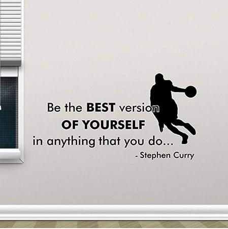 ACEYCYS Sé el Mejor Baloncesto Fitness Deporte Vinilo Sticke ...