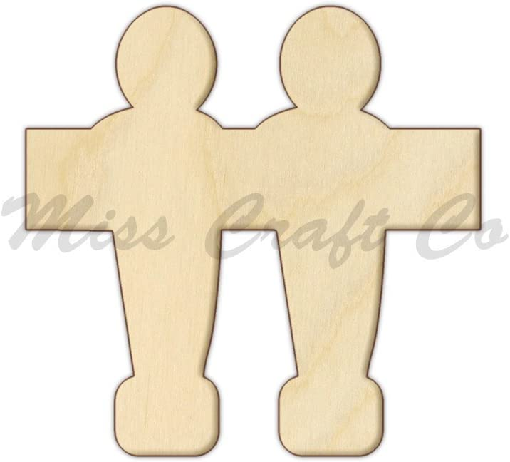 Futbolín madera forma Cutout, madera Craft forma, pendientes de ...
