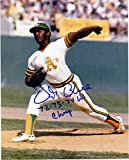 VIDA BLUE OAKLAND A'S 72.73.74 WS CHAMPS ACTION SIGNED 8x10 - Autographed MLB Photos