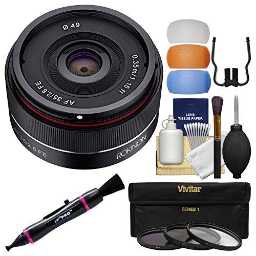 Rokinon 35mm f/2.8 Autofocus Full Frame Lens with 3 UV/CPL/N
