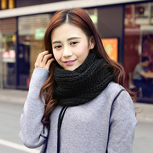 Woogwin Womens Knit Infinity Scarf Thick Soft Winter Warm Circle Loop Scarves
