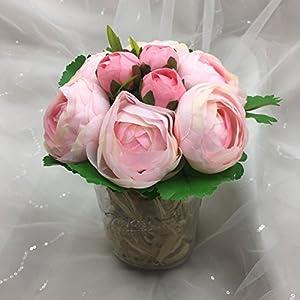 "Lily Garden 10.5"" Silk Camellia Bouquet Wedding Decor Flowers (All pink) 3"