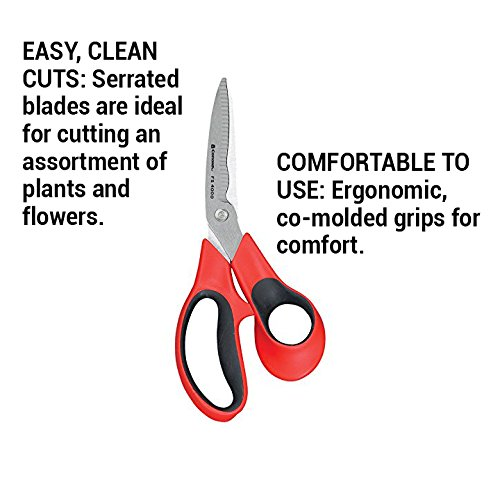 Corona Stainless Steel Floral Scissors, 3 Inch Blade, FS 4000