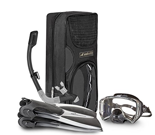 SealBuddy FIJI Panoramic Snorkel set + Premium Travel Gear Bag ~ Vest Included