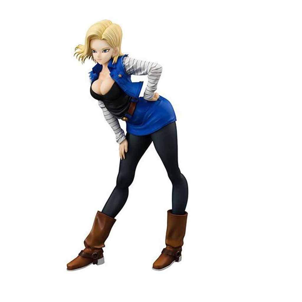 QRFDIAN Dragon Ball Z Dragon Ball Mädchen 18. Generation künstlicher Raum stehend Position Boxed Hand Modell Puppet Dekoration Höhe: 19 cm