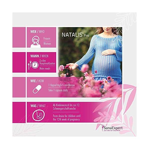 SanaExpert Natalis pre | Complément alimentaire pour conception et grossesse | Acide Folique 800 μg,Quatrefolic,Vitamine…