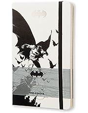 Moleskine 11304 - Cuaderno de hojas rayadas, blanco y negro - Diario Batman Blanco