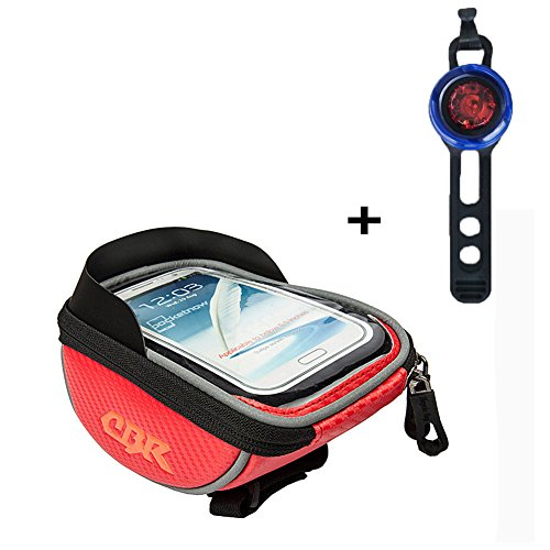 Price comparison product image Bicycle Bags (Gifts: Tail Light), Bike Bag Phone Holder, Cycling Bicycle Bike Front Frame Bags Top Tube Pouch handlebar Bag, Suitable for all type bike (Red)