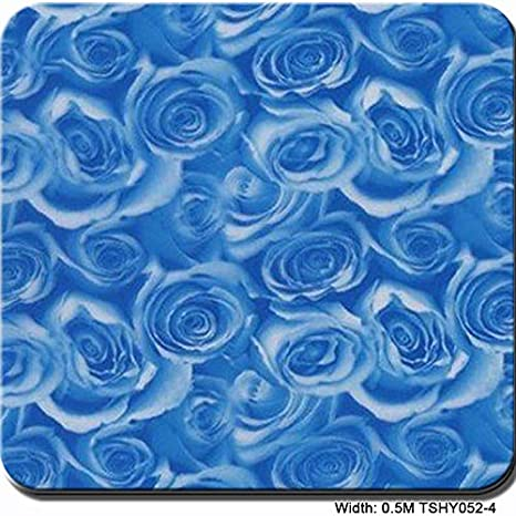 Hydrographic Film Hydrographic Film Water Transfer Print Hydrographics Film Hydro DipHydro Dipping Film Water Dipping Film 0.5 Meter Width Rose Pattern- Multi-Color Optional Hydro Dipping Film