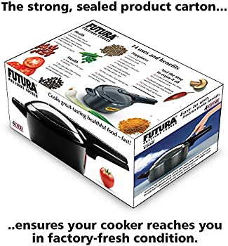 طنجرة ضغط للطهي بالبخار من فيوتشرا أسود 40.6x25.4x20.3سم