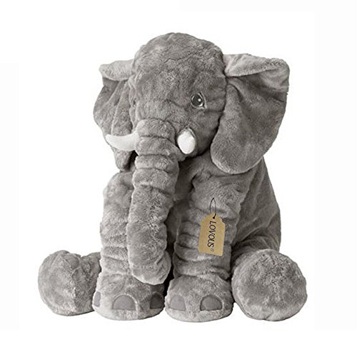 Big Plush Stuffed Animals (LOVOUS Big Stuffed Elephant Plush Doll Toy, Grey)