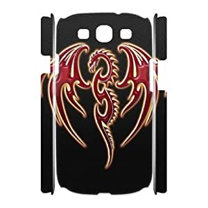 ALICASE Cover Case Red Dragon 3D Diy For Samsung Galaxy S3 I9300 [Pattern-1]