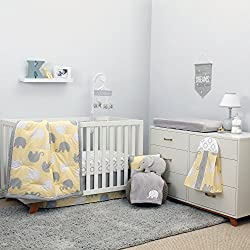 NoJo Dreamer - Yellow/Grey Elephant 8 Piece Comforter Set Boy or girl - unisex