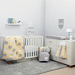 NoJo Dreamer - Yellow/Grey Elephant 8 Piece Comforter Set Boy or girl - unisex