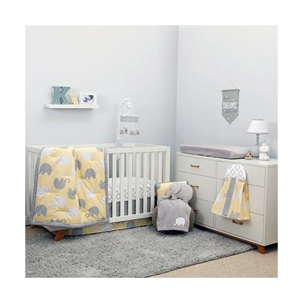 NoJo Dreamer – Yellow/Grey Elephant 8 Piece Comforter Set