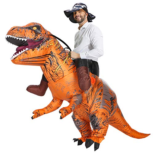 FunTrex Inflatable T-Rex Dinosaur Costume | Inflatable Costumes For Adults| Halloween Costume | Blow Up Costume Fancy Dress