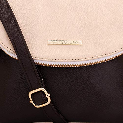 donna tascabile Borsa Design multifunzionale a Sporco O per Off Bianco tracolla white Lupo Lapis IRq7w8P