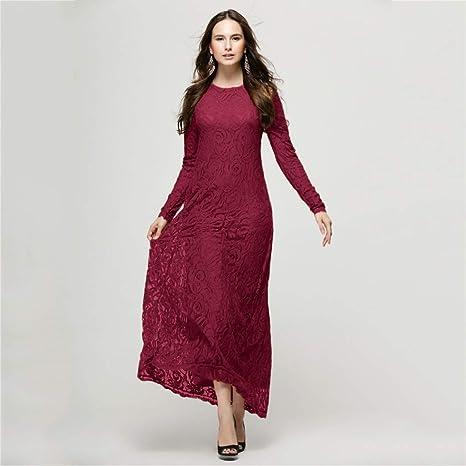 FRAUIT damska elegancka sukienka z długim rękawem, długa, dwuwarstwowa, sukienka maxi, luźna, odchudzana, smukła, sukienka koktajlowa, sukienka na imprezę, balowa: Odzież