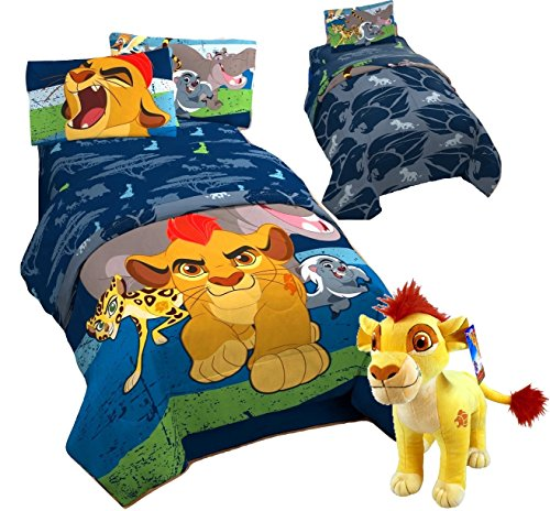 Disney LION GUARD 5pc FULL Size Bedding ~ TWIN/FULL Reversible Comforter and FULL SIZE Sheet Set + KION PILLOW BUDDY