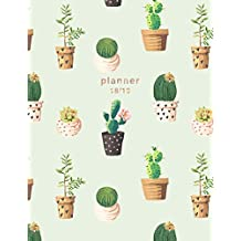 Planner 2018-2019: Cactus Design | Jul 18 - Dec 19 | 18 Month Mid-Year Weekly View Planner Organizer with Motivational Quotes + To-Do Lists