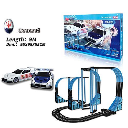 Sky Racer Slot car Race Set TR-39L 1:64 Scale from AGM MASTECH