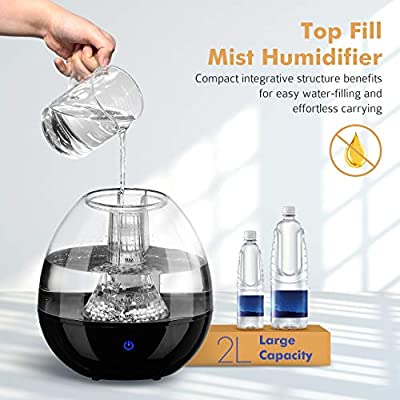 Homasy Humidifiers with Anti-Bacteria Stone, Ultrasonic Cool Mist Humidifier for Baby Bedroom