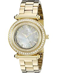 Oniss Womens ON8182N-LG/WT-C BELLO COLLECTION Analog Display Swiss Quartz Gold Watch