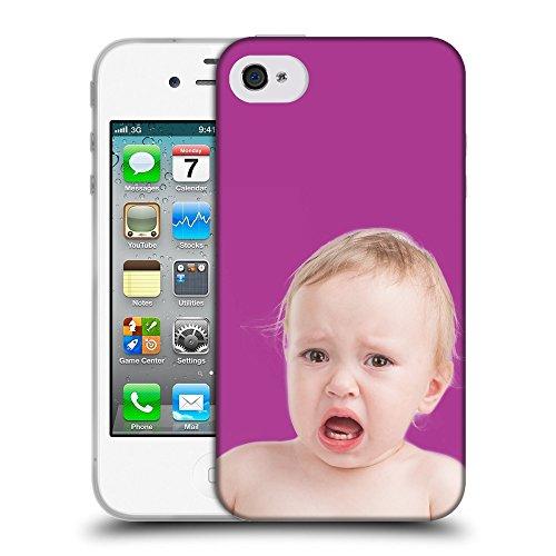 GoGoMobile Coque de Protection TPU Silicone Case pour // Q05700621 bébé qui pleure bizantino // Apple iPhone 4 4S 4G