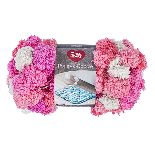 Red Heart Pomp-A-Doodle Yarn, Cotton (Candy Hearts Wreath)