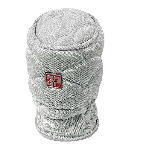 uxcell 12cm x 8cm Gray Antislip Nylon Auto Gear Shift Knob Cover Protector