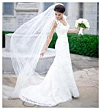 EllieHouse Women's 2 Tier Chapel Wedding Bridal Veil With Free Comb E22