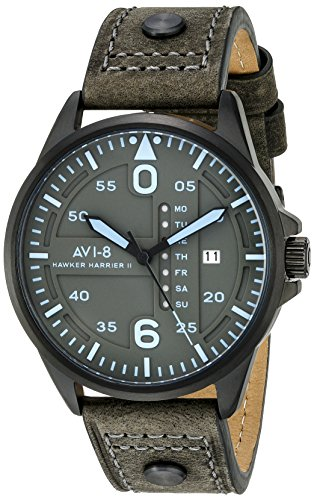 AVI-8-Mens-AV-4003-0A-Hawker-Harrier-II-Japanese-Quartz-Green-Watch