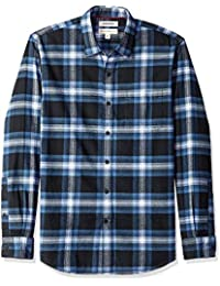 Amazon Brand - Goodthreads Men's Long-Sleeve Brushed Flannel Shirt