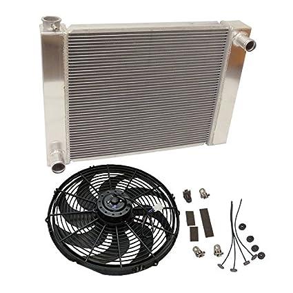 """3"""" Wide Radiator Fan Shroud Universal Chrome Chrysler Ford Chevy Street Hod Rod"""