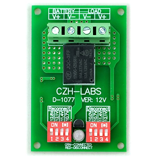 Low Power Disconnect Module - Electronics-Salon Low Voltage Disconnect Module LVD, 12V 10A, Protect/Prolong Battery Life.